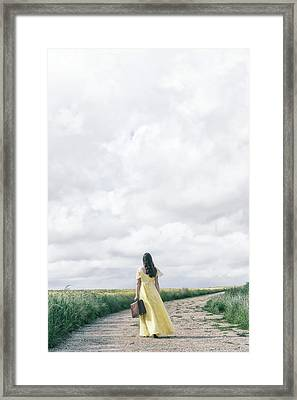 Yellow Lady Framed Print