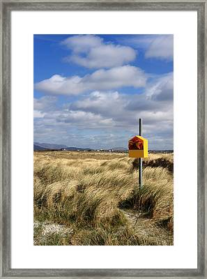 Yellow Life Saver Framed Print by Pierre Leclerc Photography