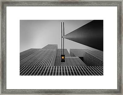 Yellow Light Framed Print by Wim Schuurmans