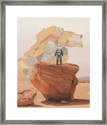 Yellow Lion Framed Print