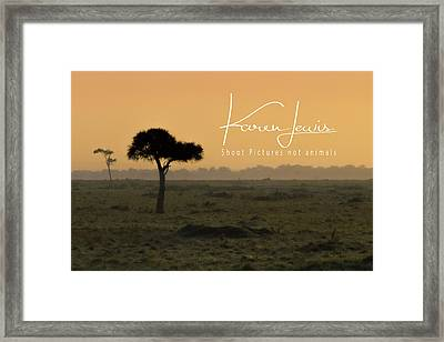 Framed Print featuring the photograph Yellow Mara Dawn by Karen Lewis