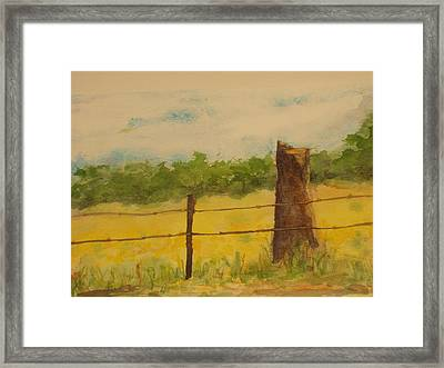 Framed Print featuring the painting Yellow Meadow  by Vicki  Housel