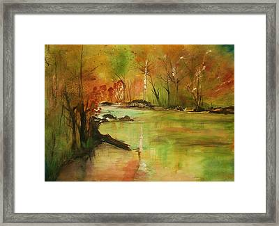 Yellow Medicine River Framed Print by Julie Lueders