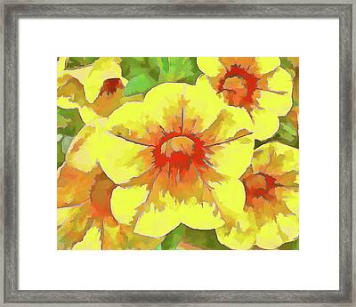 Yellow Million Bells Framed Print