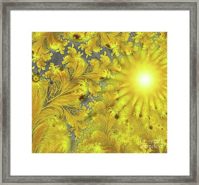 Yellow Morning Framed Print by Mindy Sommers