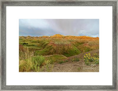 Yellow Mounds Morning Framed Print