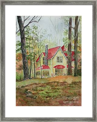 Yellow Mountain Cottage Framed Print