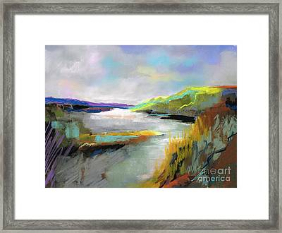 Yellow Mountain Framed Print by Frances Marino
