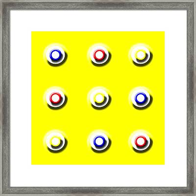 Yellow Nine Squared Framed Print