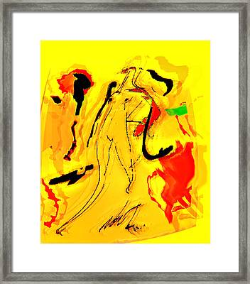 Yellow Framed Print by Noredin Morgan