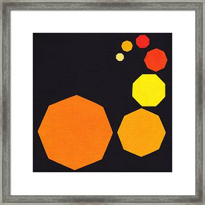 Yellow Octagon Framed Print