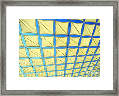 Yellow On Blue Sky 1 Framed Print by Randall Weidner