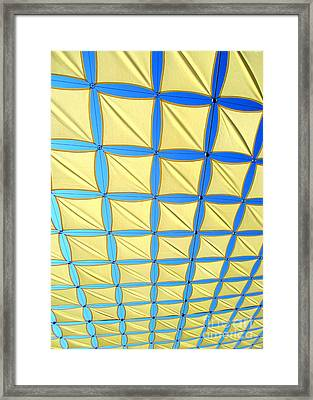 Yellow On Blue Sky 2 Framed Print by Randall Weidner