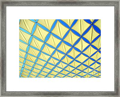 Yellow On Blue Sky 3 Framed Print by Randall Weidner