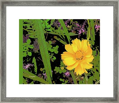 Yellow One Framed Print