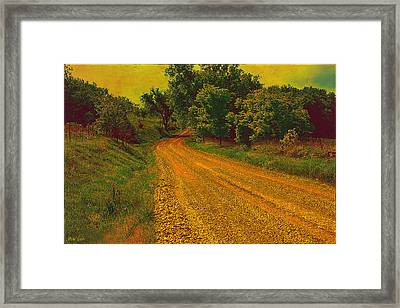 Yellow Oz Road Framed Print