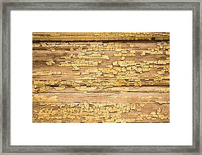 Framed Print featuring the photograph Yellow Painted Aged Wood by John Williams