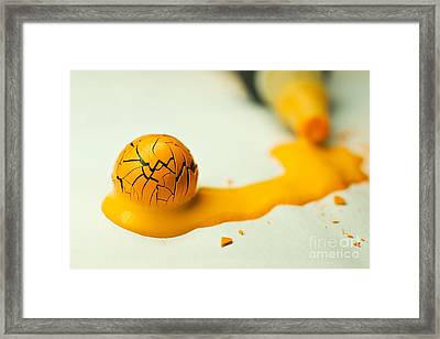 Yellow Painted Ball Framed Print