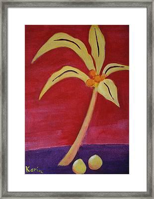 Yellow Palm Framed Print