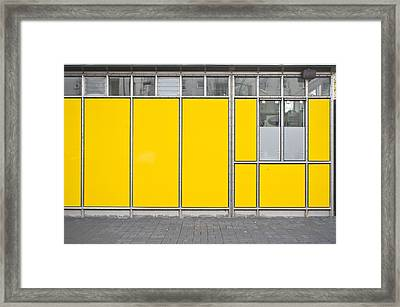 Yellow Panels Framed Print by Tom Gowanlock