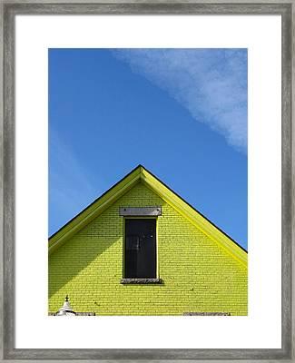 Yellow Peak Framed Print