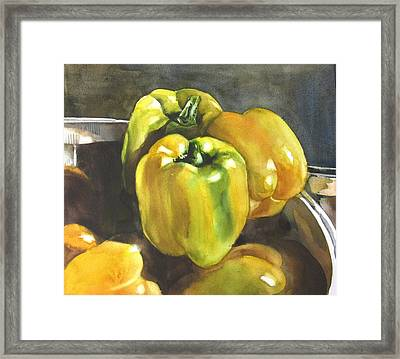 Yellow Peppers Framed Print
