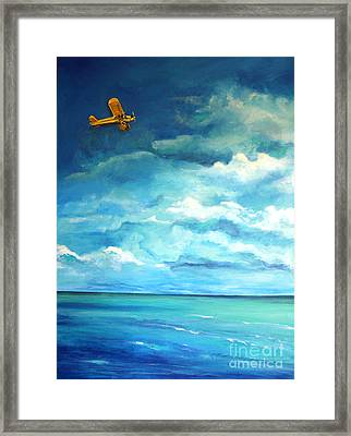 Yellow Plane Framed Print