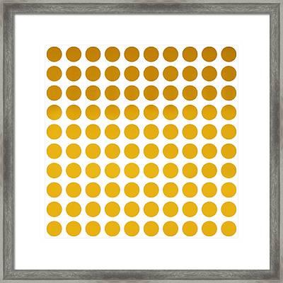 Yellow Polka Dots Framed Print by Art Spectrum