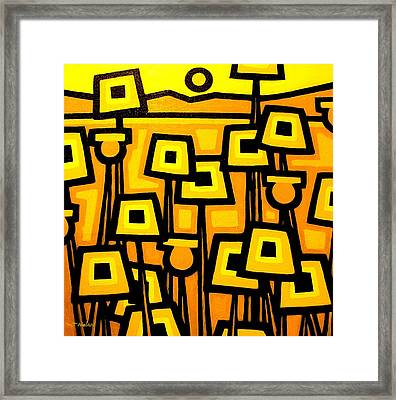 Yellow Poppies  - Featured On The Abc Comedy Series Super Fun Night Framed Print by John  Nolan