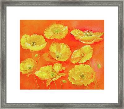 Yellow Poppies Framed Print by Jan Matson