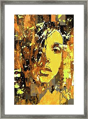 Framed Print featuring the photograph Yellow Portrait by Jeff Gettis