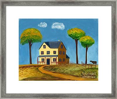 Yellow Prairie House Framed Print