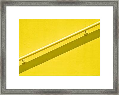 Yellow Rail Framed Print