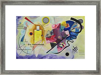 Yellow-red-blue Framed Print by Wassily Kandinsky