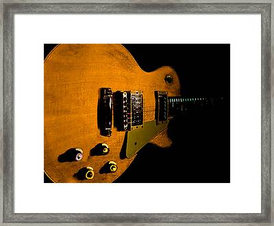 Yellow Relic Guitar Hover Series Framed Print