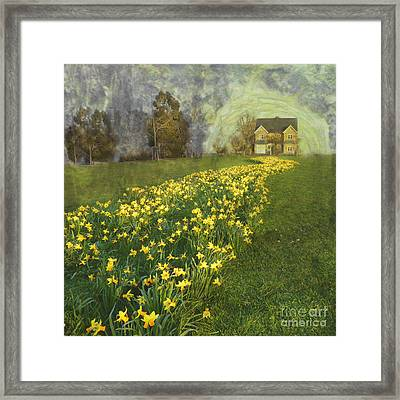Yellow River To My Door Framed Print by LemonArt Photography