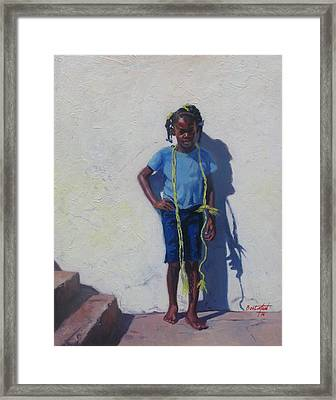 Yellow Rope Framed Print by Colin Bootman