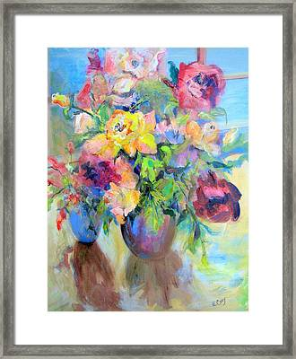 Yellow Rose Framed Print by Elaine Cory
