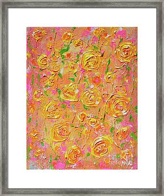 Yellow Roses Of Texas Framed Print