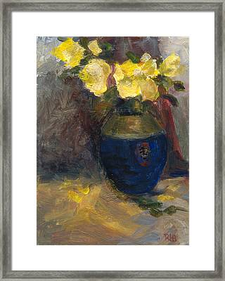 Yellow Roses Framed Print by Rita Bentley