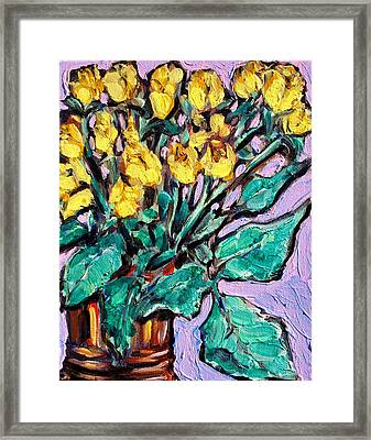 Yellow Roses Framed Print by Sheila Tajima