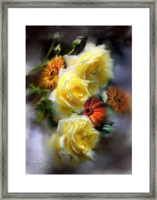 Yellow Roses Framed Print by Stephen Lucas