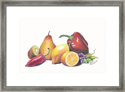 Yellow Salad Framed Print