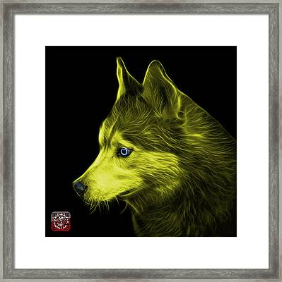 Framed Print featuring the painting Yellow Siberian Husky Art - 6048 - Bb by James Ahn
