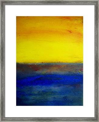 Yellow Sky 1 Framed Print
