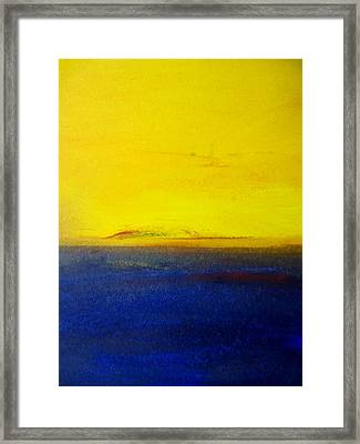 Yellow Sky 2 Framed Print