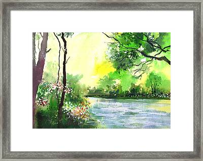 Yellow Sky Framed Print by Anil Nene