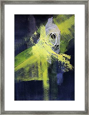 Framed Print featuring the painting Yellow Splash by Nancy Merkle