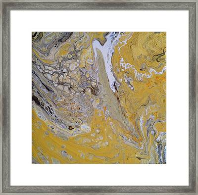Yellow Stone Framed Print by Ivy Stevens-Gupta