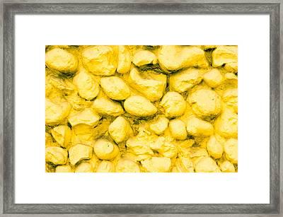 Yellow Stone Wall Framed Print